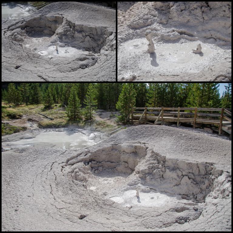artists paint pots - mud